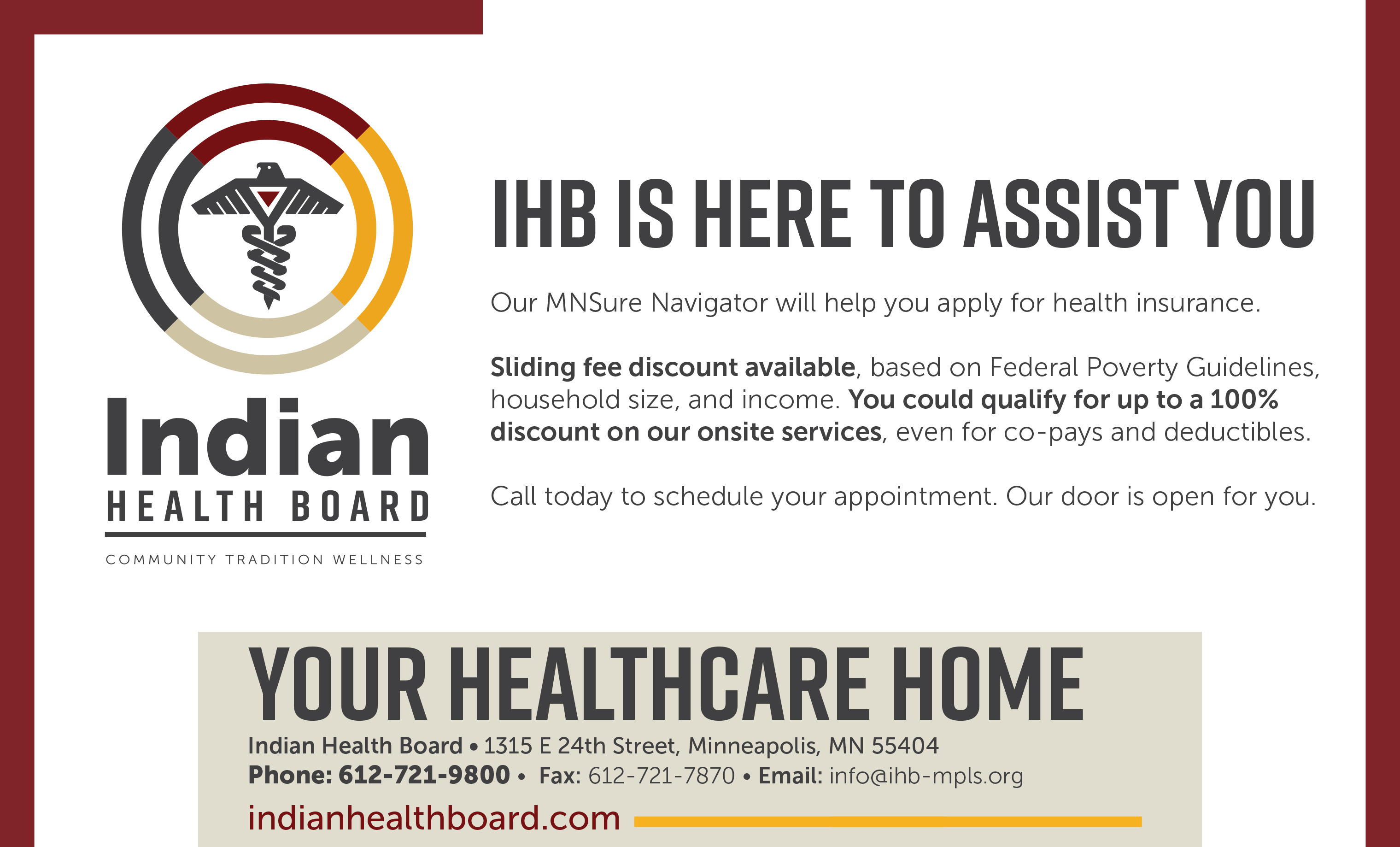 Insurance Indian Health Board Of Minneapolis Incdian Health